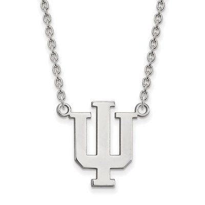 Indiana Hoosiers Sterling Silver Pendant Necklace | Logo Art | SS016IU-18
