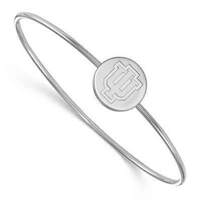 Indiana Hoosiers Sterling Silver Bangle Bracelet | Logo Art | SS053IU-7