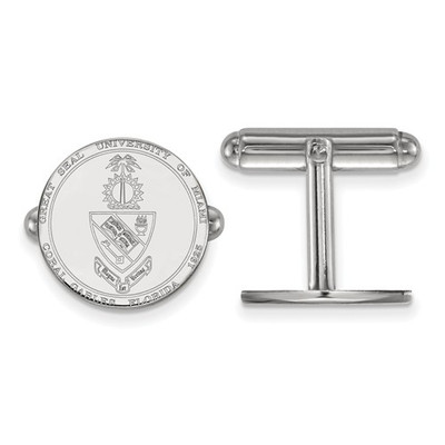Miami Hurricanes Crest Sterling Silver Cufflinks | Logo Art | SS069UMF