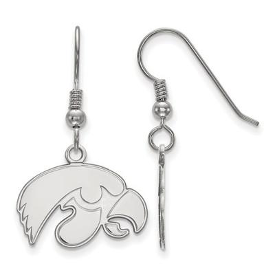 Iowa Hawkeyes Sterling Silver Dangle Earrings | Logo Art | SS007UIA