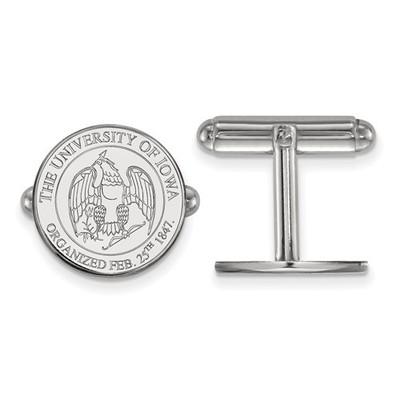 Iowa Hawkeyes Crest Sterling Silver Cufflinks | Logo Art | SS081UIA