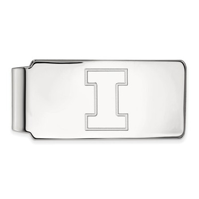Illinois Fighting Illini I Logo Sterling Silver Money Clip | Logo Art | SS025UIL