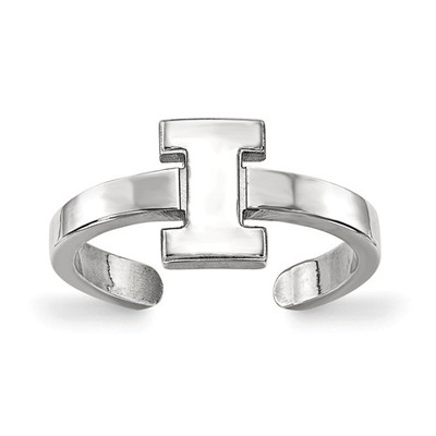Illinois Fighting Illini Sterling Silver Toe Ring | Logo Art | SS029UIL
