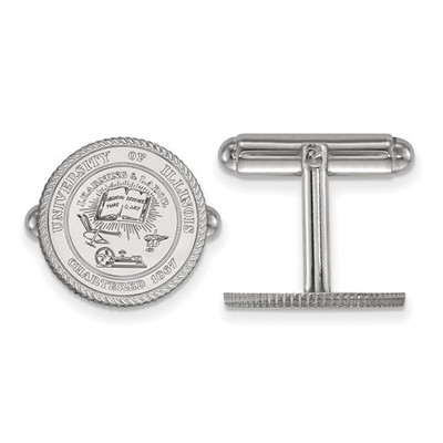 Illinois Fighting Illini Crest Sterling Silver Cufflinks | Logo Art | SS067UIL