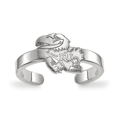 Kansas Jayhawks Sterling Silver Toe Ring | Logo Art | SS025UKS