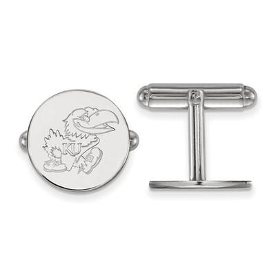 Kansas Jayhawks Sterling Silver Cufflinks | Logo Art | SS071UKS