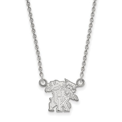 Kentucky Wildcats Sterling Silver Pendant Necklace | Logo Art | SS056UK-18