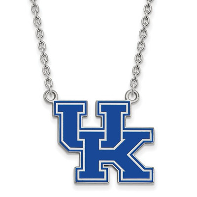 Kentucky UK Blue Logo Sterling Silver Necklace | Logo Art | SS082UK-18