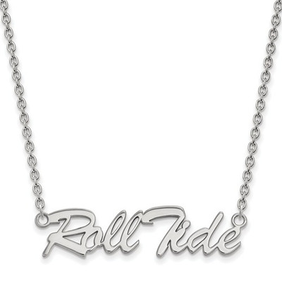 Alabama Crimson Tide Roll Tide Sterling Silver Necklace | Logo Art | SS083UAL-18