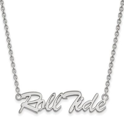 Alabama Crimson Tide Roll Tide Sterling Silver Necklace | Logo Art | SS083UAL-18