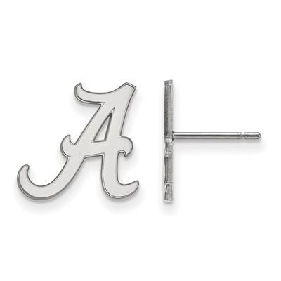 Alabama Crimson Tide A Sterling Silver Post Earrings | Logo Art | SS009UAL