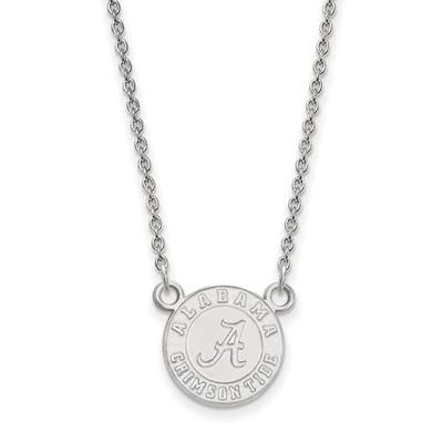 Alabama Crimson Tide Sterling Silver Pendant Necklace | Logo Art | SS054UAL-18