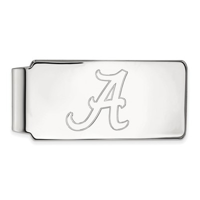 Alabama Crimson Tide A Sterling Silver Money Clip | Logo Art | SS025UAL