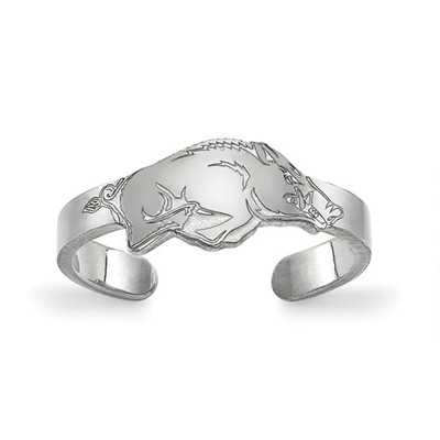 Arkansas Razorbacks Sterling Silver Toe Ring | Logo Art | SS028UAR