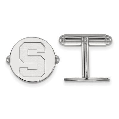 MSU Spartans S Logo Sterling Silver Cufflinks | Logo Art | SS012MIS