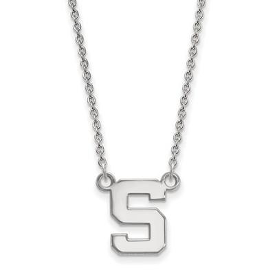 MSU Spartans S Logo Sterling Silver Pendant Necklace | Logo Art | SS015MIS-18
