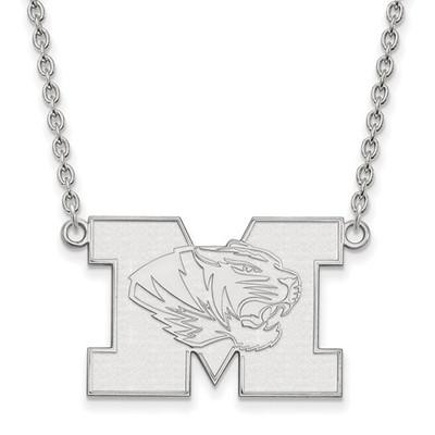Missouri Tigers Sterling Silver Pendant Necklace | Logo Art | SS059UMO-18