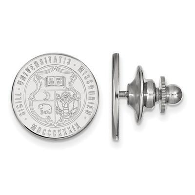Missouri Tigers Crest Sterling Silver Lapel Pin | Logo Art | SS064UMO