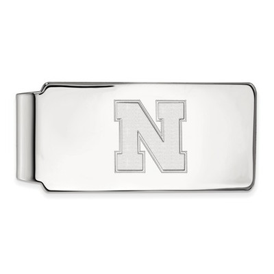 Nebraska Huskers N Sterling Silver Money Clip | Logo Art | SS052UNE