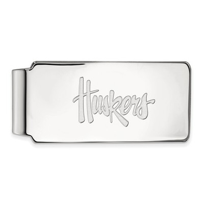Nebraska Huskers Sterling Silver Money Clip | Logo Art | SS012UNE