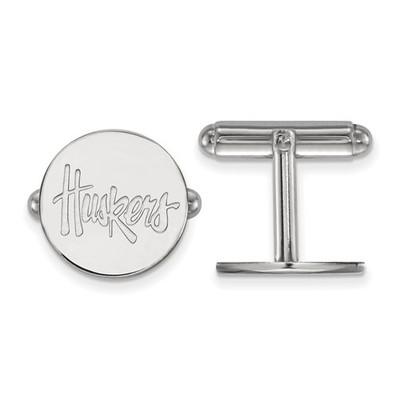 Nebraska Huskers Sterling Silver Cufflinks | Logo Art | SS079UNE