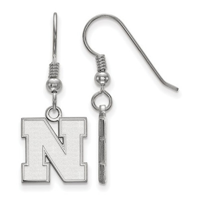 Nebraska Huskers N Sterling Silver Dangle Earrings | Logo Art | SS085UNE