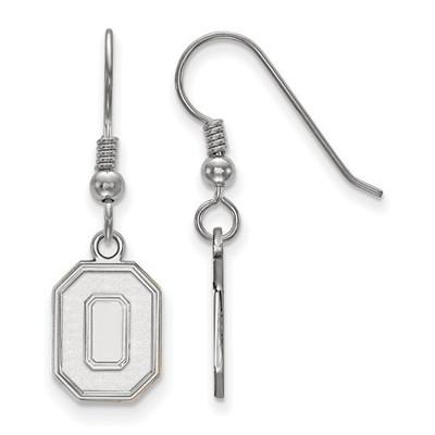 Ohio State O Logo Sterling Silver Dangle Earrings | Logo Art | SS050OSU
