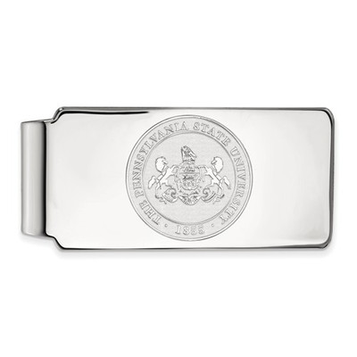 Penn State Lions Crest Sterling Silver Money Clip | Logo Art | SS046PSU