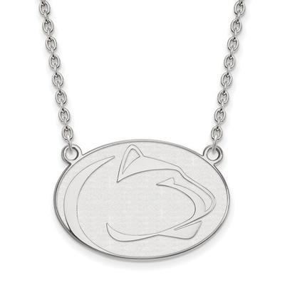 Penn State Nittany Lions Sterling Silver Pendant Necklace | Logo Art | SS020PSU-18