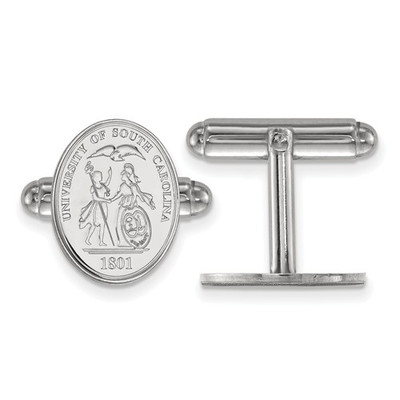 South Carolina Gamecocks Crest Sterling Silver Cufflinks | Logo Art | SS067USO