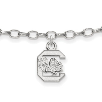 SC Gamecocks Sterling Silver Ankle Bracelet | Logo Art | SS030USO