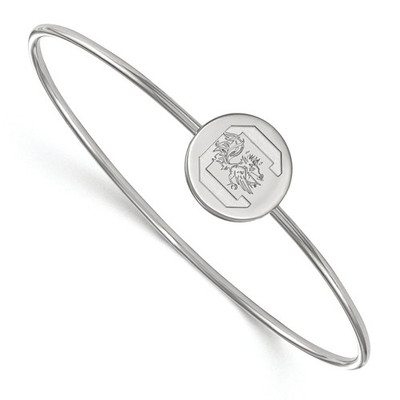SC Gamecocks Circle Sterling Silver Thin Bangle | Logo Art | SS014USO-7