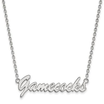 South Carolina Gamecocks Script Sterling Silver Necklace   Logo Art   SS068USO-18