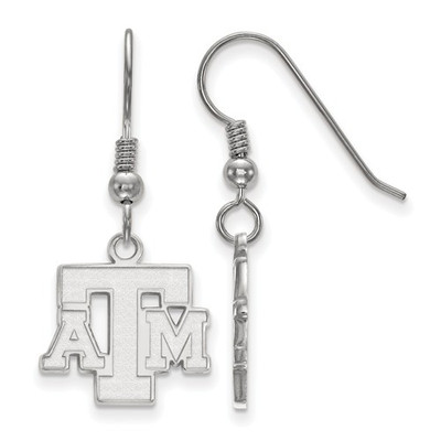 Texas A&M Aggies Sterling Silver Dangle Earrings | Logo Art | SS059TAM