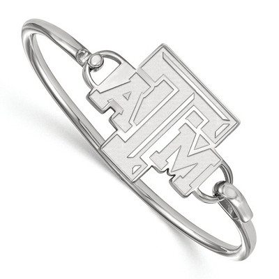 Texas A&M Aggies Sterling Silver Bangle Bracelet | Logo Art | SS015TAM-7