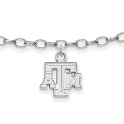 Texas A&M Aggies Sterling Silver Ankle Bracelet   Logo Art   SS024TAM