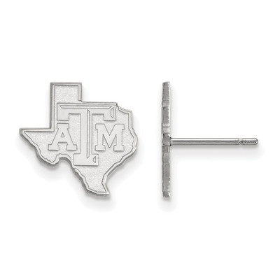 Texas A&M Aggies Sterling Silver TX Post Earrings | Logo Art | SS047TAM