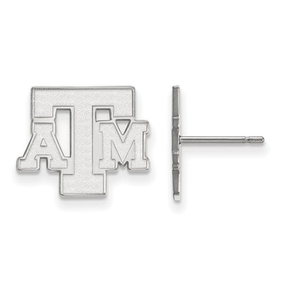 Texas A&M Letter Sterling Silver Post Earrings | Logo Art | SS075TAM