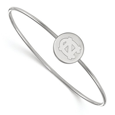 UNC Tar Heels Sterling Silver Circle Thin Bangle | Logo Art | SS013UNC-7