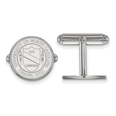 UNC Crest Sterling Silver Tar Heels Cufflinks | Logo Art | SS060UNC