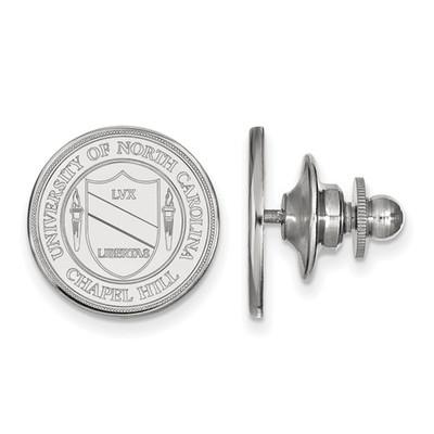 UNC Crest Sterling Silver Tar Heels Lapel Pin | Logo Art | SS059UNC
