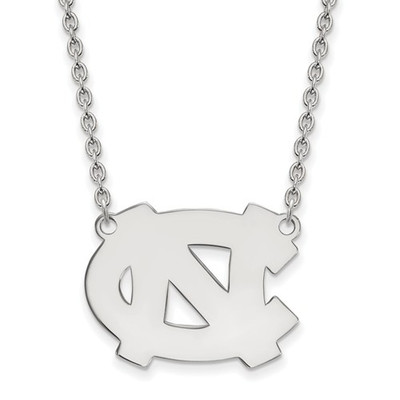 UNC Tar Heels Sterling Silver Pendant Necklace | Logo Art | SS015UNC-18
