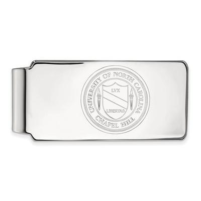 UNC Crest Sterling Silver Tar Heels Money Clip | Logo Art | SS061UNC