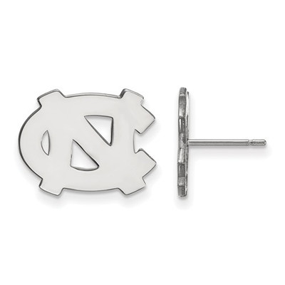 UNC Tar Heels Sterling Silver Post Earrings | Logo Art | SS009UNC