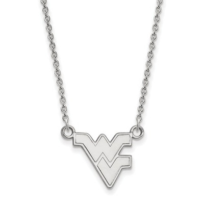 West Virginia Mountaineers Sterling Silver Pendant Necklace | Logo Art | SS015WVU-18
