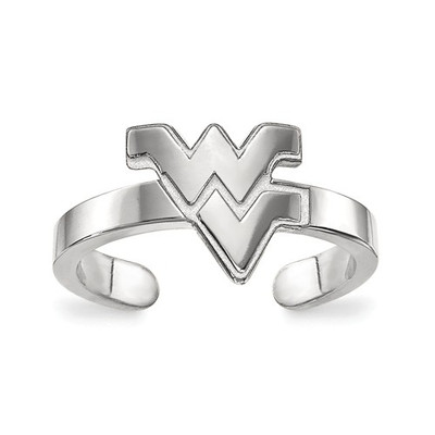 West Virginia Mountaineers Sterling Silver Toe Ring | Logo Art | SS029WVU