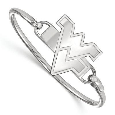 West Virginia WV Sterling Silver Bangle Bracelet | Logo Art | SS021WVU-7