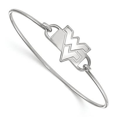 WV Mountaineers Sterling Silver Thin Bangle Bracelet | Logo Art | SS022WVU-7