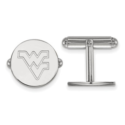 WV Mountaineers Sterling Silver Cufflinks | Logo Art | SS012WVU