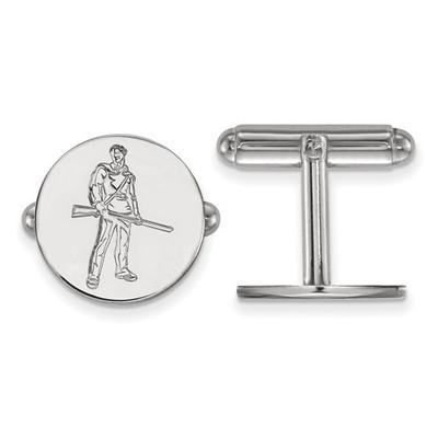 WV Mountaineers Mascot Sterling Silver Cufflinks | Logo Art | SS056WVU